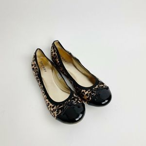 Sperry Top Side Animal Print Leather Ballet Flats